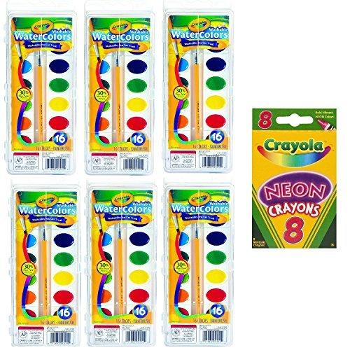 Watercolor Crayola Washable Crayola - Crayola Crayola Washable Watercolors, 16 Count (Pack of 6) Total 96 Count