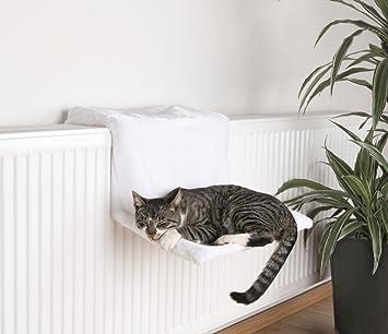 Trixie 4321 Cama Radiador, Peluche, 45 x 24 x 31 cm, Blanco Lana: Amazon.es: Productos para mascotas