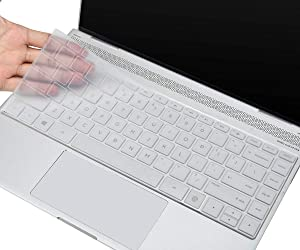 CaseBuy Keyboard Cover for HP ENVY 13-inch Touchscreen Laptop with Fingerprint Reader 13-ba0010nr ay0075nr, HP ENVY X360 13.3 inch Silicone Keyboard Protector Skin, HP ENVY 13 Accessories, Transparent