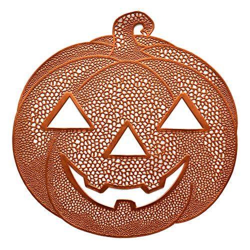 Benson Mills Pressed Vinyl Placemats for Halloween/Fall (Orange/Pumpkin