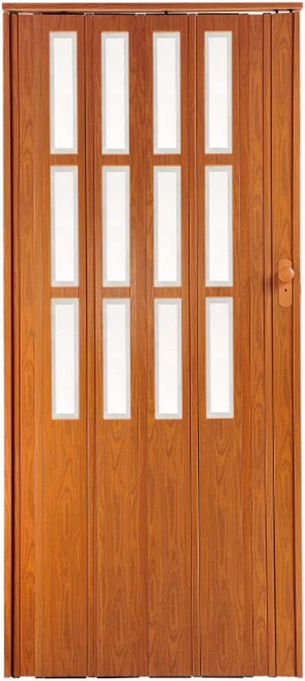 Puerta plegable corredera cereza Colores con candado y altura 203 ...