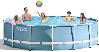 Intex 15ft X 42in Prism Frame Pool Set with Filter Pump, Ladder, Ground Cloth & Pool Cover