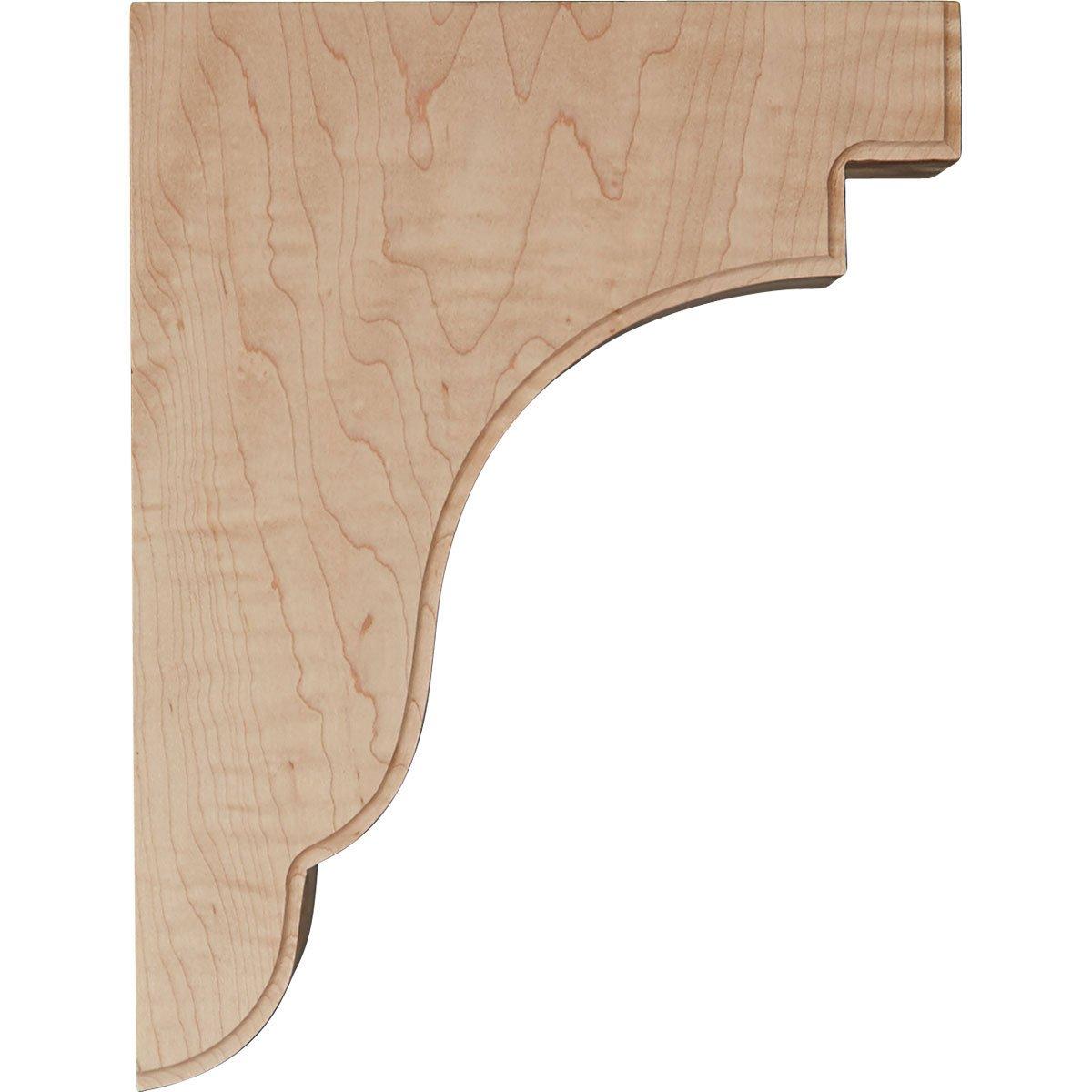 Rubberwood-Ready to be Stained Ekena Millwork BKTW05X09X11BERW-CASE-2 Bedford Bracket