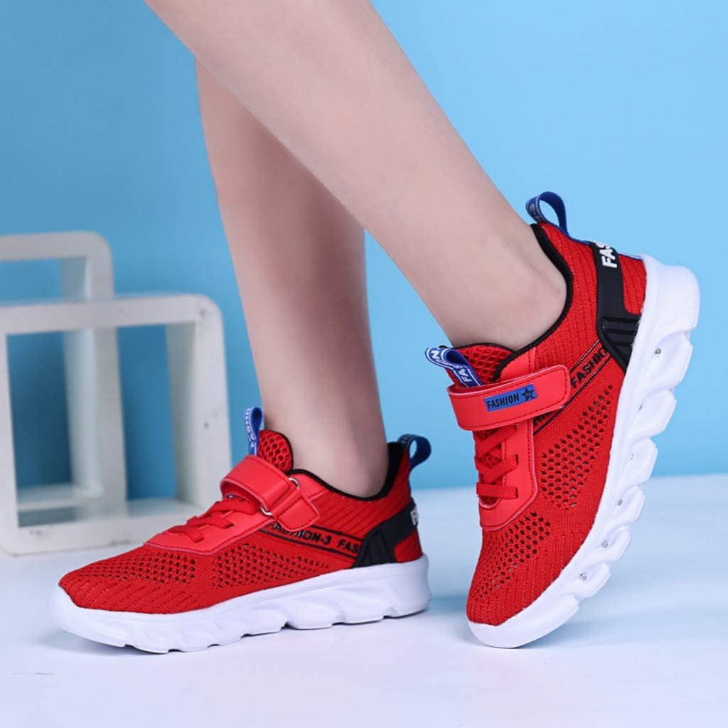 Children Kid Baby Girls Boys Striped Flat Luminous Sport Sneaker Shoes Kids LED Slip on Sneakers Baby Shoes Booties Plus Velvet Boots Sport Shoes Cotton Boots Sneakers for 5-12 Year Old