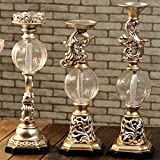 #10: European style Candle holder,carving Candlestick holders Retro decoration household Decoration Resin marry wedding-A