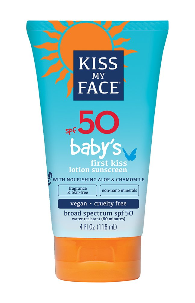 Kiss My Face Baby's First Kiss Mineral Lotion Sunscreen SPF 50, Tear-Free Sunblock for Kids, 4 oz Kiss My Face Corp