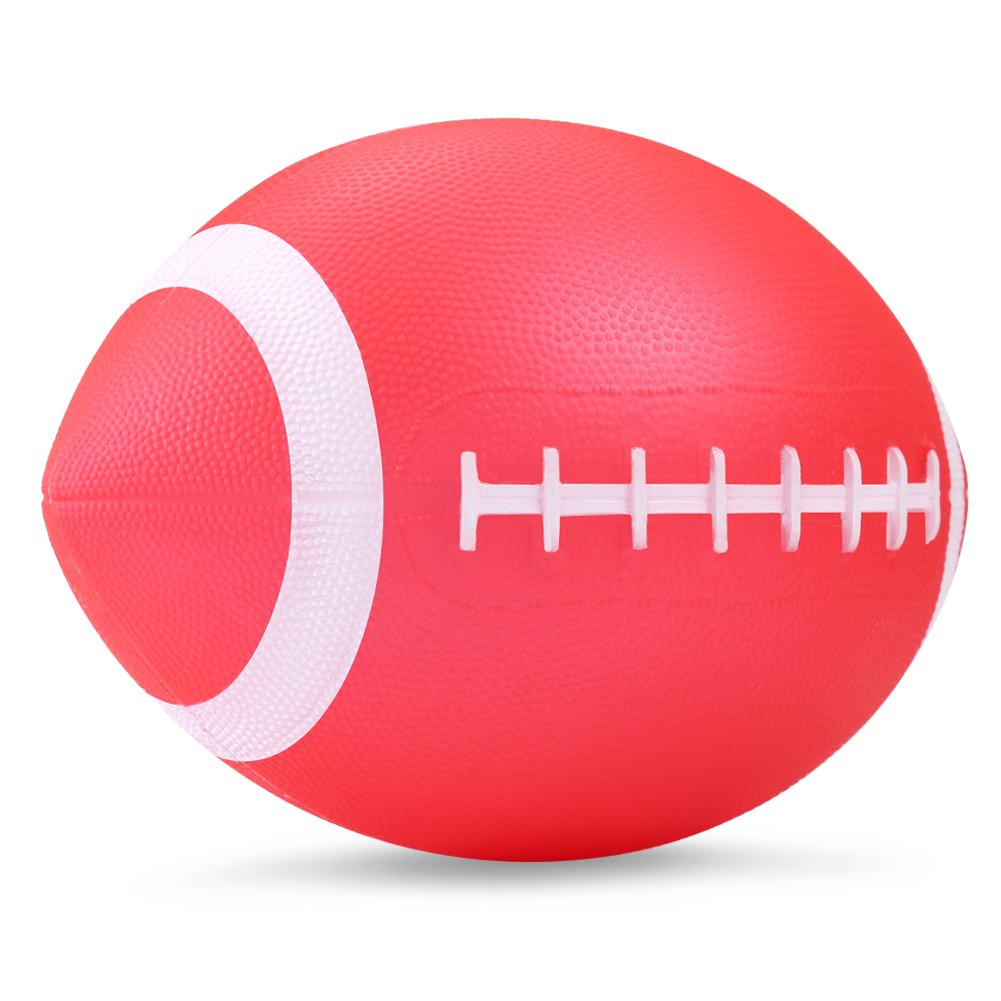 "YAPA Football for Toddlers Mini Cute American Footballs Handheld Kids Toy,Bouncy and Soft 7.5""Inflate Beach Ball Come Deflate(red)"