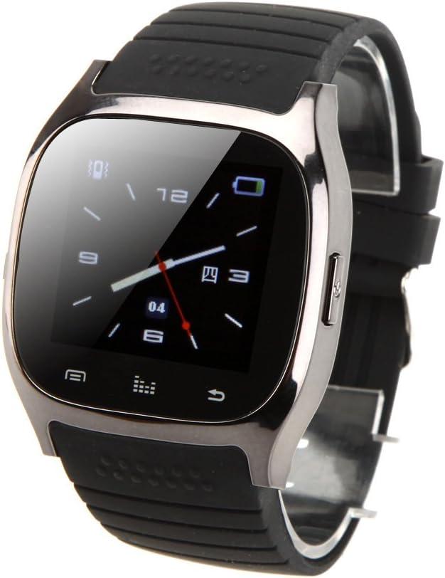 rwatch M26Bluetooth reloj inteligente BT3.01.4TFT pantalla impermeable IP57para Android 2,3A 4.2BT3.0above Smartphone con podómetro alarma antirrobo música teléfono libro