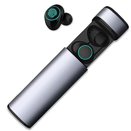 HolyHigh Auriculares Bluetooth Inalámbricos Cacos Bluetooth 5.0 Auriculares Inalambricos con Caja de Carga y Micrófono a