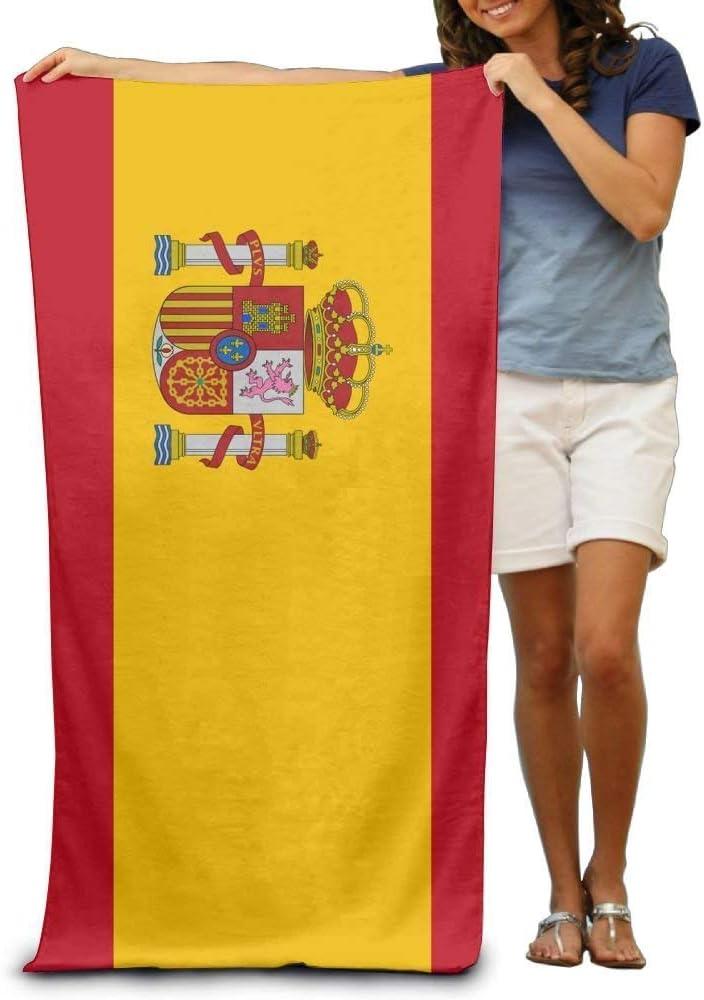 xcvgcxcvasda - Toalla de baño, diseño de la Bandera de España, para Adultos, para la Playa, Secado rápido, Lavable, Ligera, Absorbente, Multiusos, para baño, Piscina, Playa, Gimnasio, Camping, Yoga: Amazon.es: Hogar