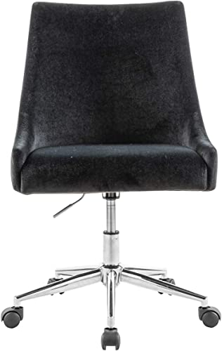 Sepnine Velvet Fabric 360 Degree Swivel Task Chair