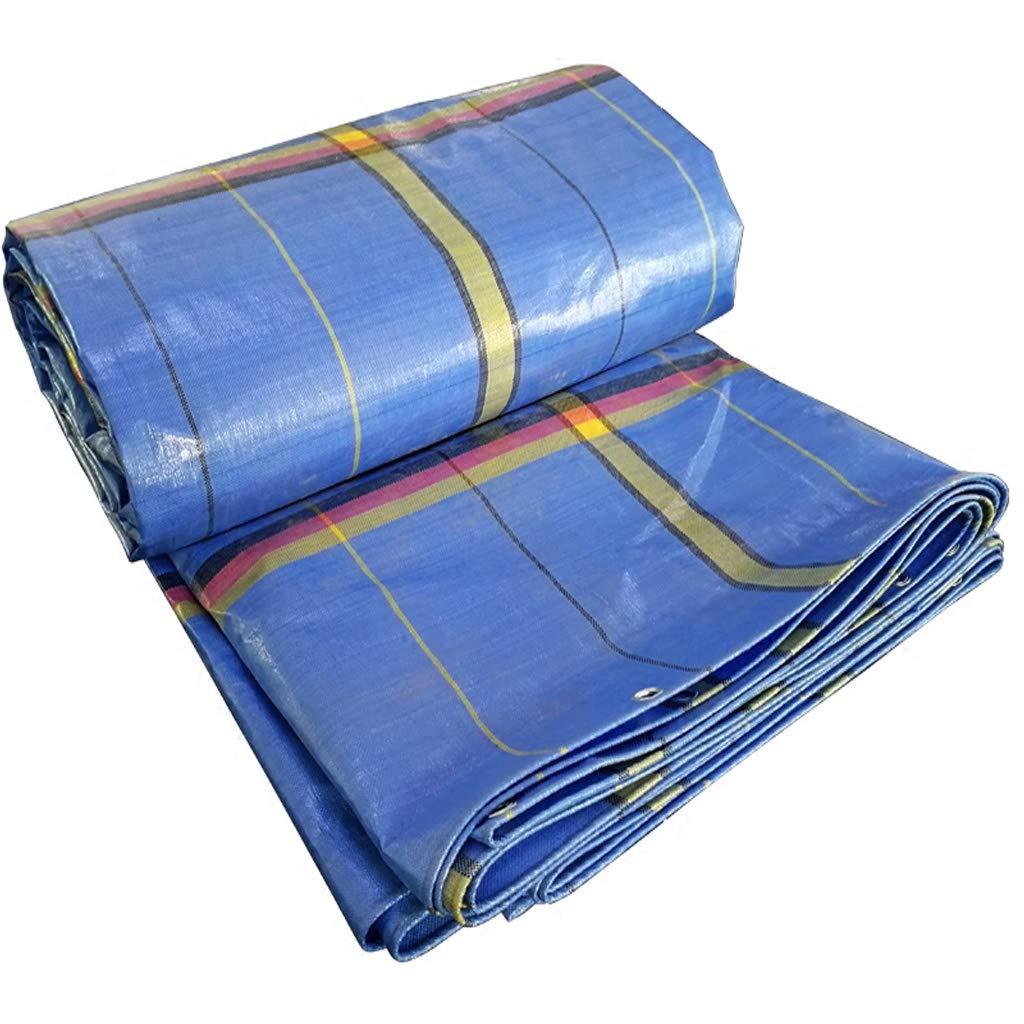 ヘビーデューティターポリン、高密度織りポリエチレンと二重層防水と屋外テントのための耐紫外線、耐寒性防水シート、屋外サンプロテクションキャンバス (サイズ さいず : 6x8m) 6x8m  B07LCTSBW9
