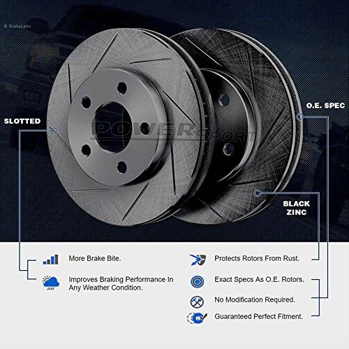 FX45 Front Rear Black Drill Slot Brake Rotors+Ceramic Pads Fit Infiniti FX35