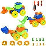 Set de 3 Rompecabezas Coche de juguete Juguetes de desmontaje de la Asamblea para niños de 3 años