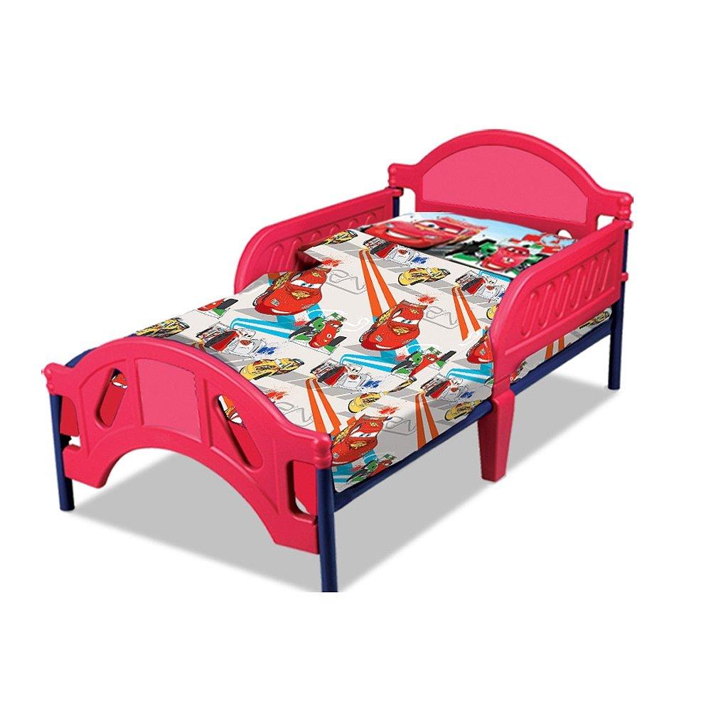 "Disney Cars Toddler Sheet Set 2 Piece - 28"" x 52"" Fitted Sheet and Pillowcase Set"