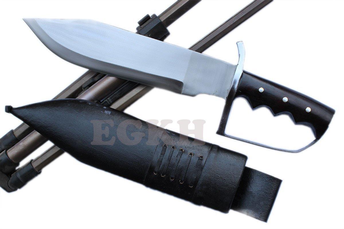 13'' Large Fighting D-Guard Bowie,Outdoor Khukuri Knife, EGKH Kukri Blade Machete - Handmade By Ex Gurkha Khukuri House by EGKH. (Image #1)