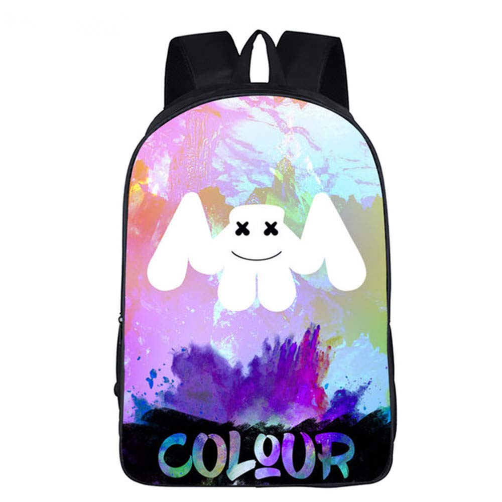 Amazon.com | Marshmello Backpack 3D Printed School Bags, DJ Marshmello School Rucksack Unisex Laptop Backpack for Kids/Students/Adults (B) | Kids Backpacks