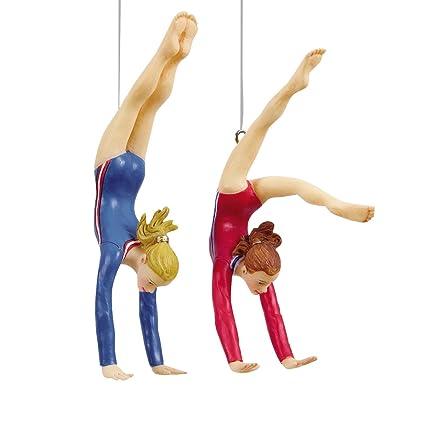 Amazon.com: Gymnastics Tumbler Christmas Ornament, Assortment of 2 ...