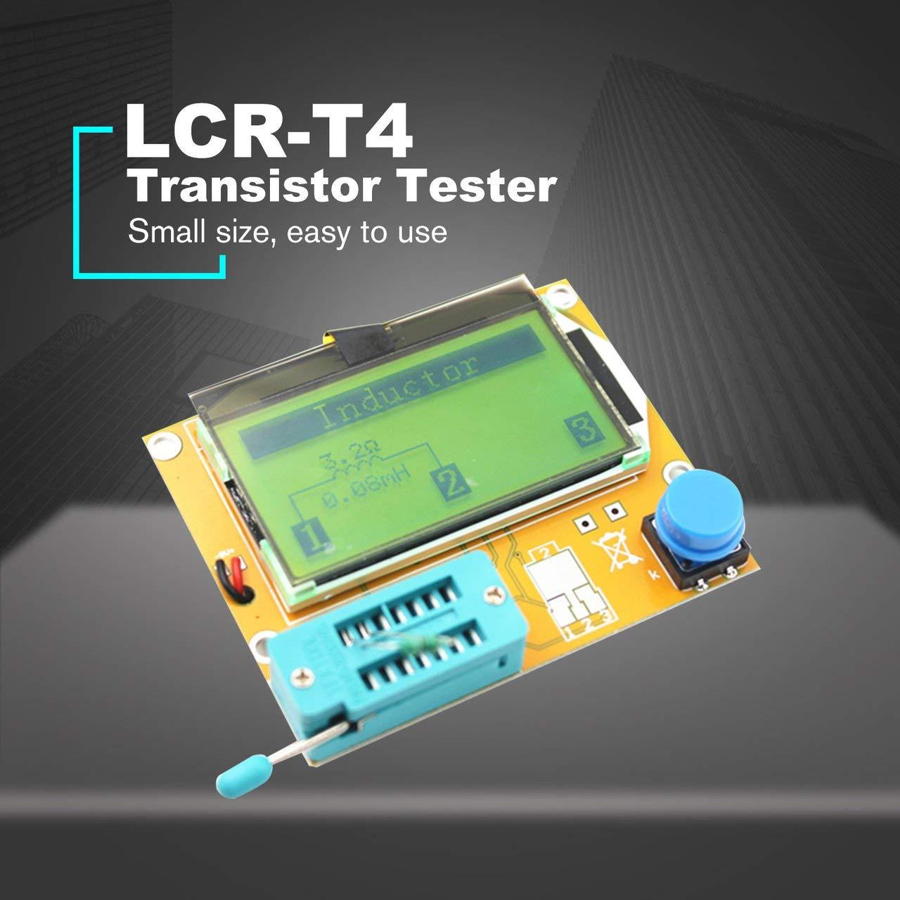 Jasnyfall LCR-T4 LCD Testeur de Transistor Num/érique Testeur de R/étro/éclairage Diode Capodim/ètre Blanc