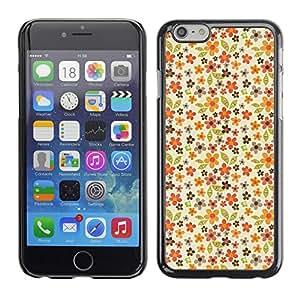 [Neutron-Star] Snap-on Series Teléfono Carcasa Funda Case Caso para Apple (4.7 inches!!!) iPhone 6 / 6S [Modelo en colores pastel Flores Wallpaper]