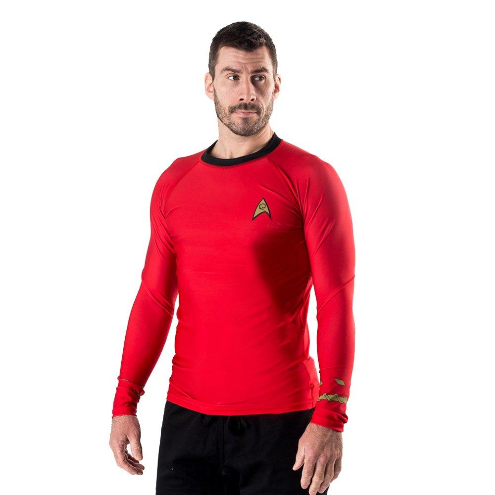 Star Trek Men's Fusion Fight Gear Classic Uniform BJJ Rash Guard