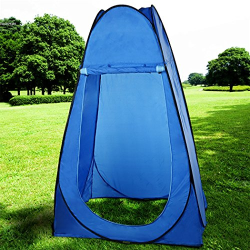 F&D Waterproof Shower Tent Pop Up Privacy Shelter for Camping Beach Toilet Changing Room Tent with Carry Bag (Blue) For Sale