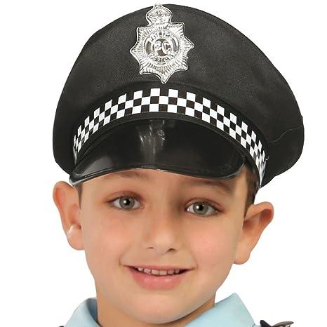 Childrens Kids Boys Police Policeman Hat Cap Fancy Dress Accessory ... cdc738f27d49
