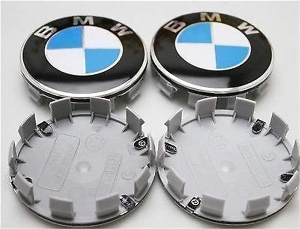 4 tapacubos para llantas de BMW azul y blanco, 68 mm, tapas completas para llantas de ruedas, tapas centrales de ruedas, 1 3 4 5 6 7 8 Series x1 X3 X4 ...