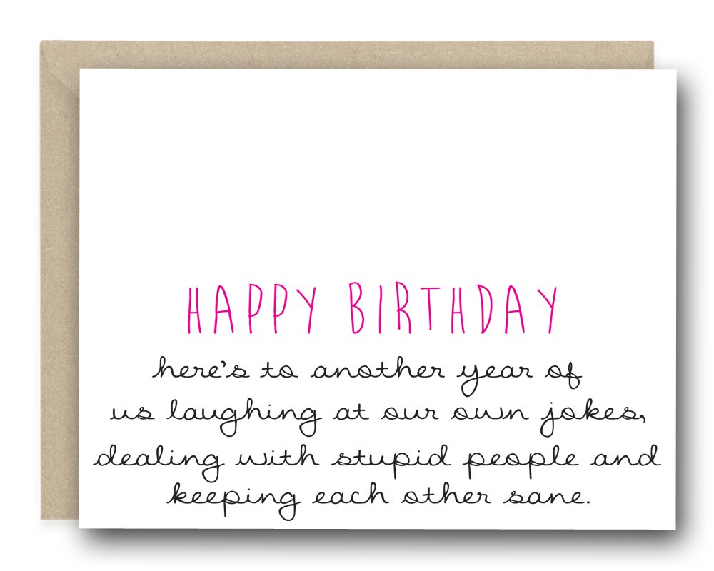 Birthday Greeting Card - Happy Birthday Here's To Another Year