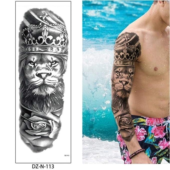 Tatuaje de brazo completo Etiqueta engomada del tatuaje Tatuaje ...