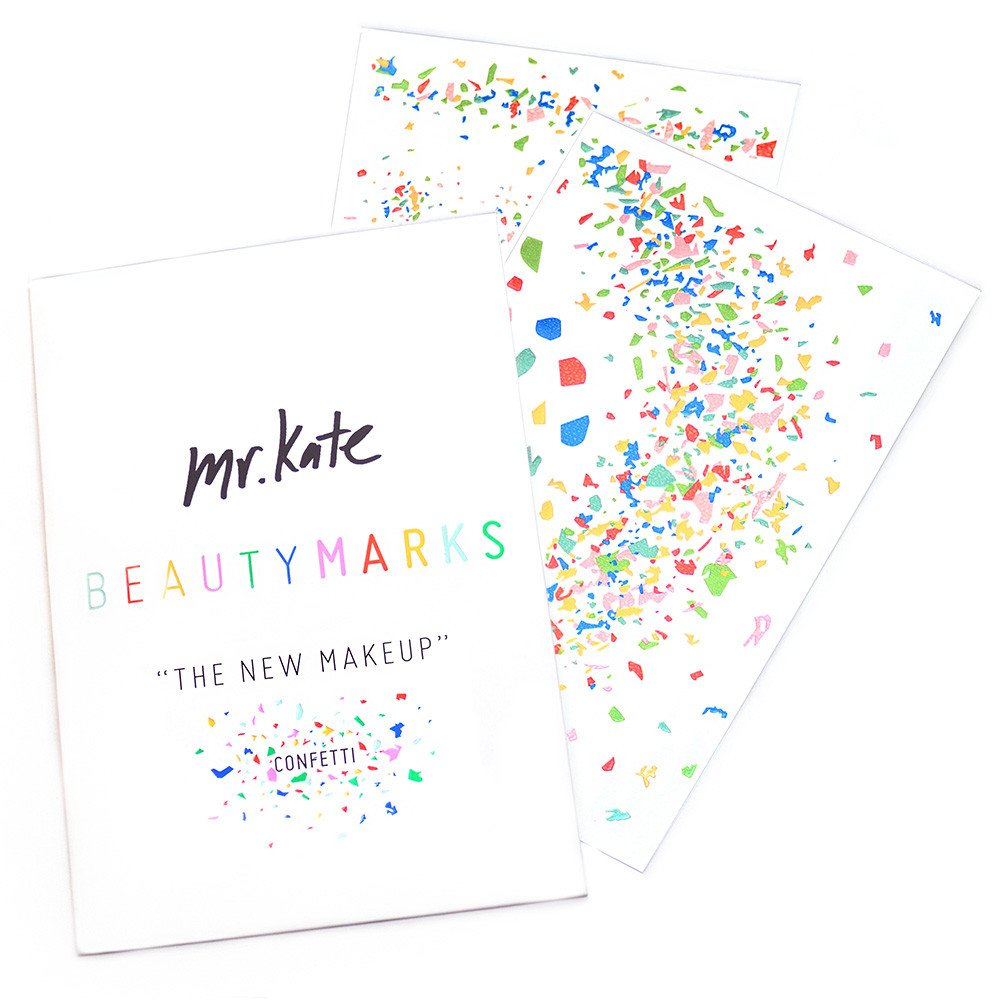 """BeautyMarks """"The New Makeup"""" - Confetti"""
