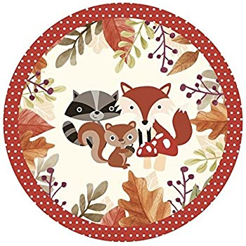 Woodland Friends Party Pack - Baby Shower or Birthday Party Bunting Plates Cups Napkins (Pack of 16)  sc 1 st  Amazon.com & Amazon.com: Woodland Animals Birthday Party Supplies Set Plates ...