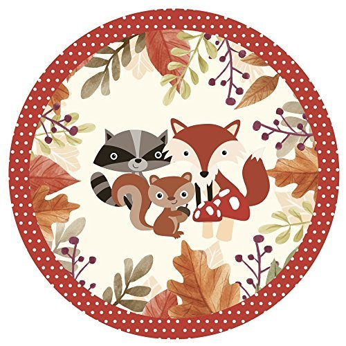 ty Pack - Baby Shower or Birthday Party Bunting Plates, Cups, Napkins (Pack of 16) (Woodland Babies Plate)