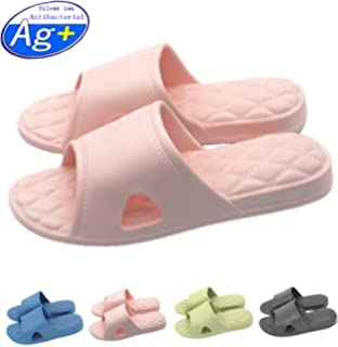 a19fe277e Happy Lily Women Men s Slip On Slippers Non-Slip Shower Sandals House Mule  Soft