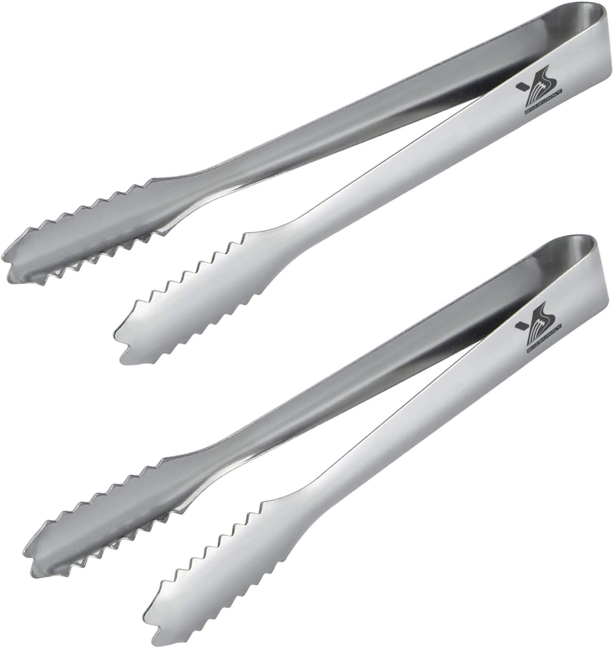 BIGSUNNY Stainless Steel Ice Tongs Set of 2 7inch Serving Tongs