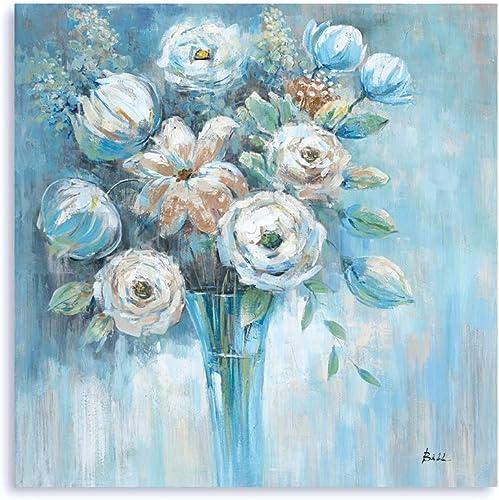 B BLINGBLING Blue Platycodon Flowers Wall Art: Farmhouse Kitchen Decor Wall Decoration