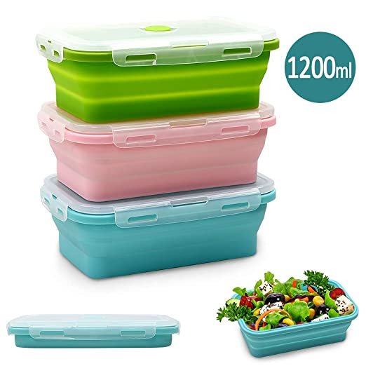 Contenedores de almacenamiento de alimentos de silicona con ...