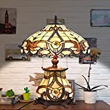 Cloud Mountain Tiffany Style Table Lamp Victorian Jeweled Desk Lamp Floral Stained Glass Home Decor Lighting