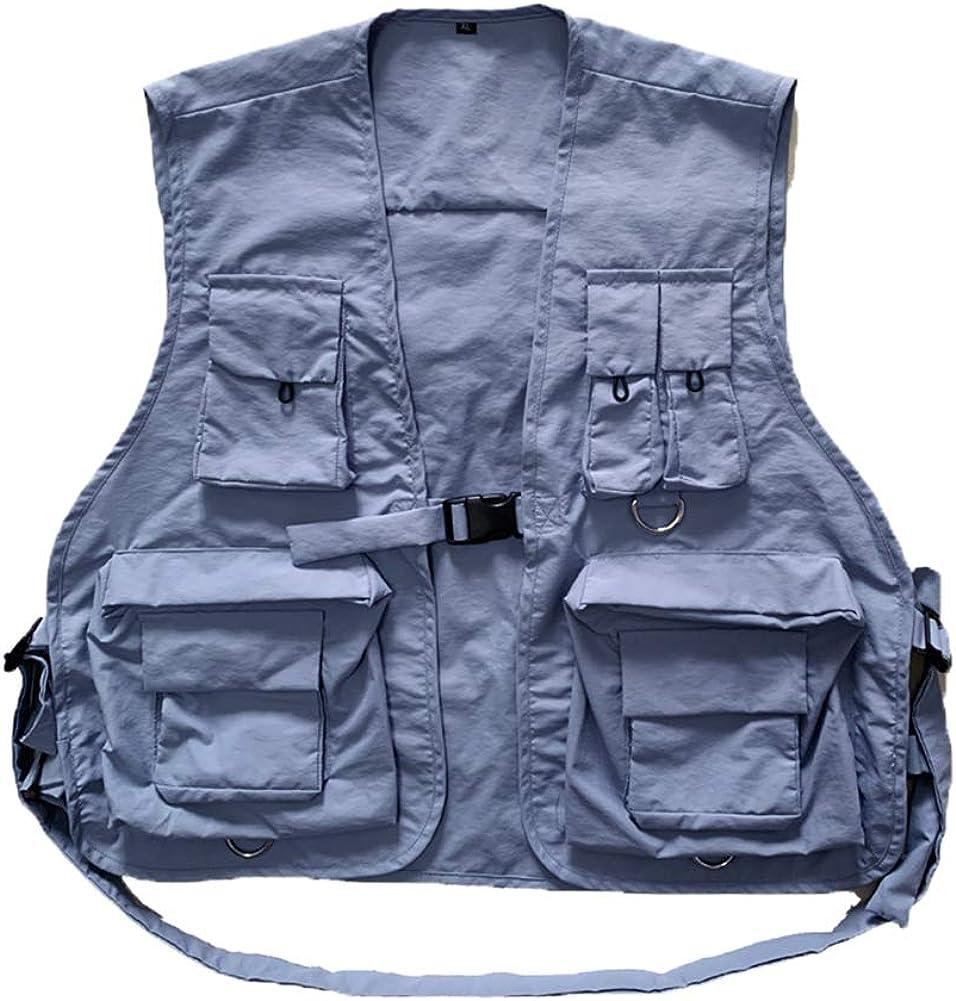 Aden Angelwesten Herren Damen Sommer Leicht Multi-Tasche Reise Weste Atmungsaktive Camping Fotografie Jacke