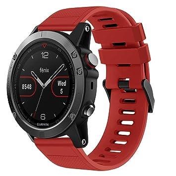 Packung mit 2 verstellbaren Silikon Armband Ersatzarmband für Garmin S3