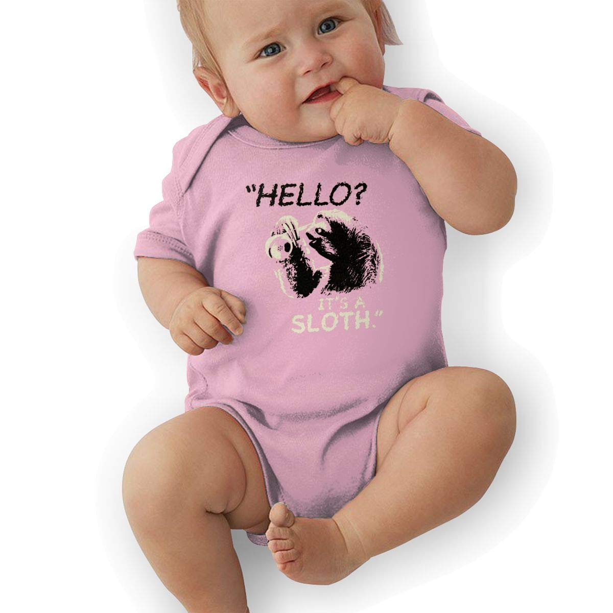Its A Sloth Print Outfit Winter Pajamas Newborn Baby Boys Bodysuit Short-Sleeve Onesie Hello