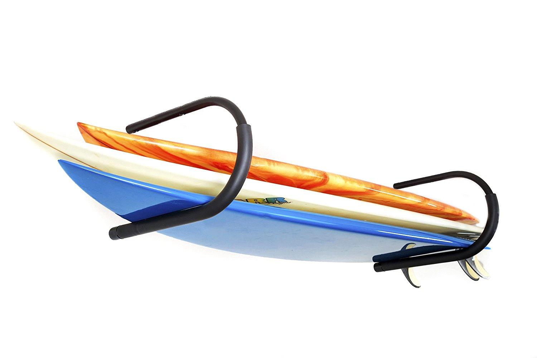 Protek Indoor Outdoor SUP Board Paddleboard Snowboard Surfboard Wakeboard Ski Storage Ceiling Hook or Wall Mount Display Rack Cradle