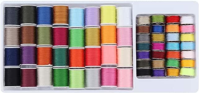 ShawFly Juego de hilos de coser 60 PCS Juego de viaje de costura ...