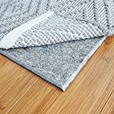 RUGPADUSA, 8'x10', 1/4' Thick, Basics Felt + Rubber Rug Pad, Non-Slip Rug Pad, Adds Cushion and Floor Protection Under Rugs, Safe for all Floors and Finishes