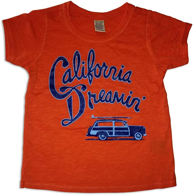 Sol Baby California Dreamin Orange Burnout Infant Tee