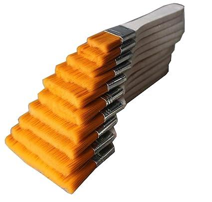 3 piezas de madera cerdas de nylon cepillo de pintura cepillos herramienta de utilidad para dibujo
