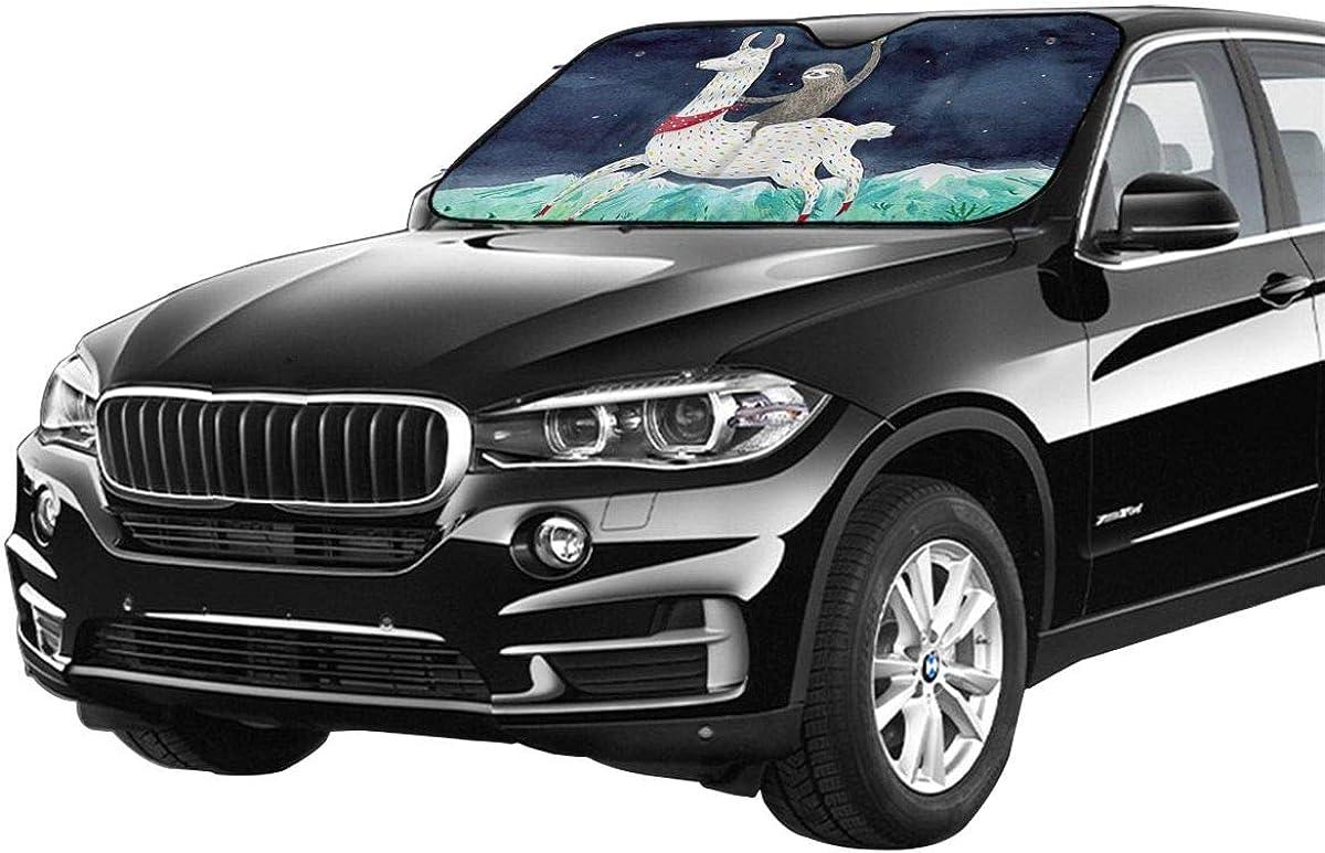 ULQUIEOR Front Windshield Sun Shade Cute Unicorn Galaxy Foldable Universal for Car Truck SUV Blocks Uv Rays Sun Visor Protector-Keep Your Vehicle Cool 51 X 27 Inch