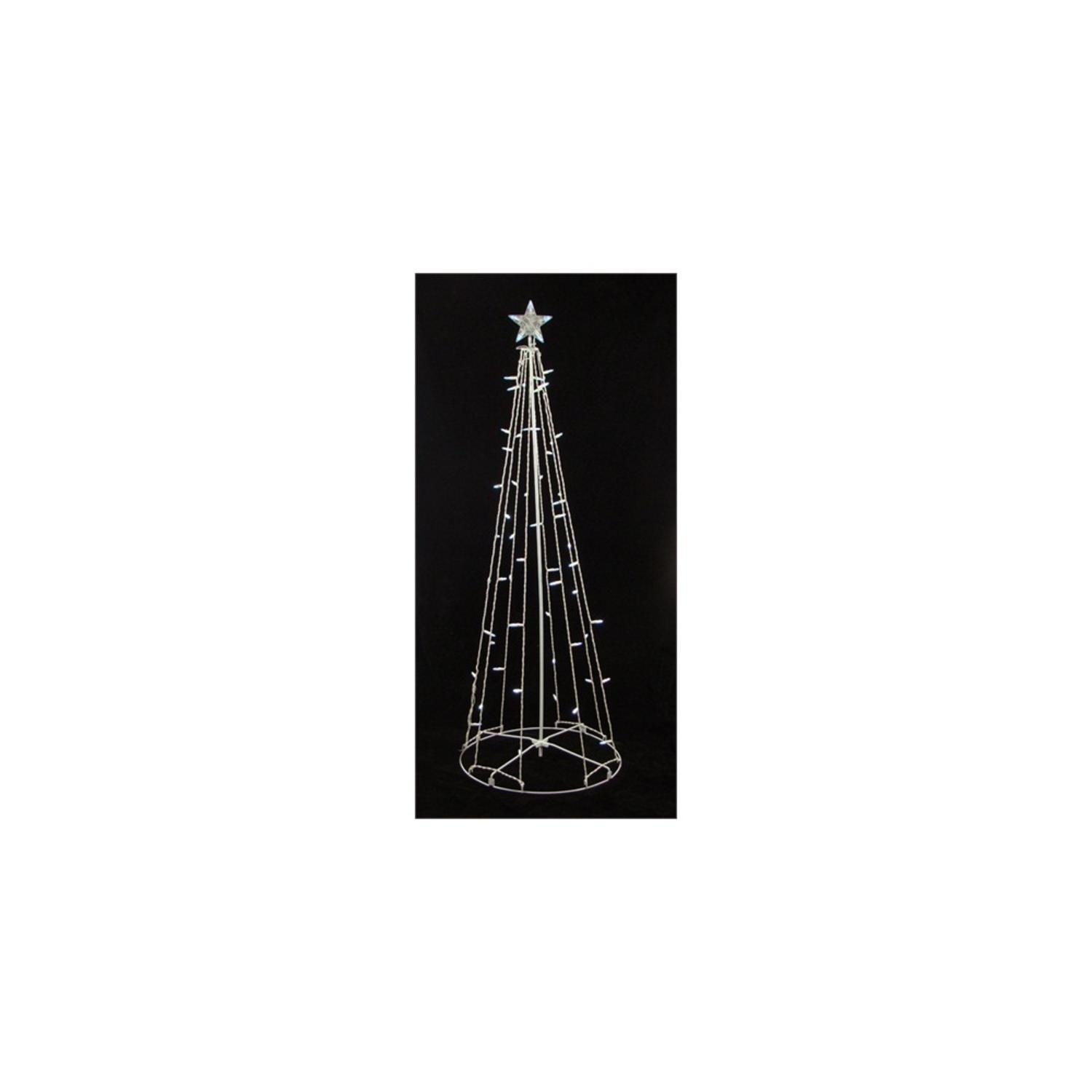 9' Lighted Outdoor Christmas Show Cone Tree Yard Art Decoration - Clear Lights