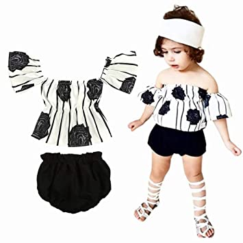 7deacd75a Viahwyt Girls Summer Clothes Set