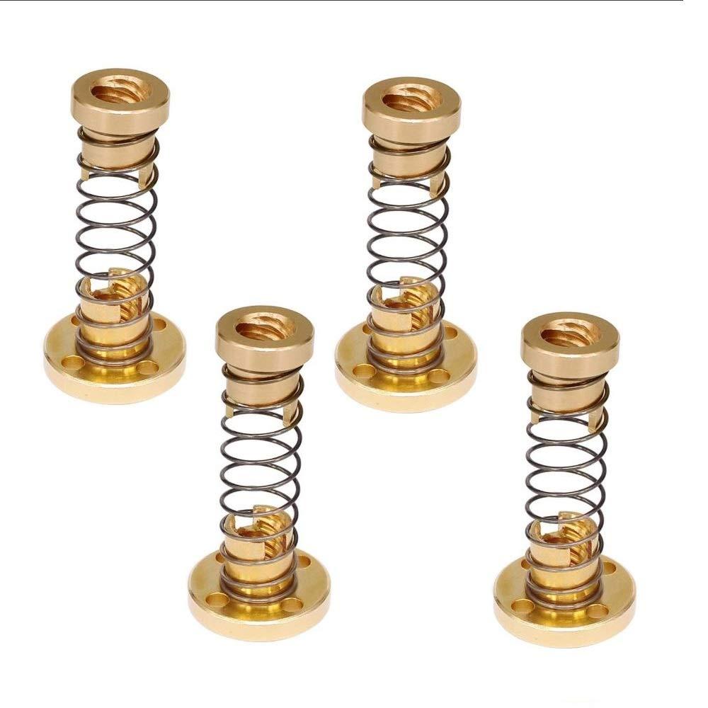 5 sets T8 Anti Backlash Spring Loaded Nut Elimination Gap Nut 8mm Acme Threaded
